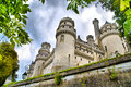 Chateau de pierrefonds in france Stock Images