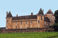Chateau de rully in the vineyards from burgundy france the fortress was built in th th century Stock Image