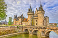 Chateau de Sully-sur-Loire, on of the Loire Valley castles in France Royalty Free Stock Photo