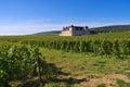 Chateau du Clos de Vougeot, Cote d`Or, Burgundy Royalty Free Stock Photo