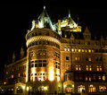 Chateau Frontenac by night Royalty Free Stock Photo