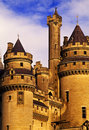 Chateau pierrefonds Stock Images