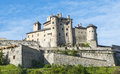 Chateau queyras hautes alpes provence alpes cote d azur the historic castle at summer Stock Photo