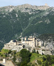 Chateau queyras hautes alpes provence alpes cote d azur the historic castle at summer Stock Photos