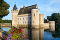 The chateau of sully sur loire france this castle is located in valley dates from th century and is a prime example Stock Photography