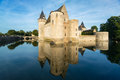 The chateau of sully sur loire france this castle is located in valley dates from th century and is a prime example Royalty Free Stock Images