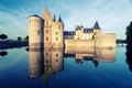 The chateau of sully sur loire france this castle is located in valley dates from th century and is a prime example Royalty Free Stock Photos