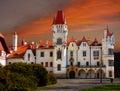 Chateau zinkovy sunset hotel apartments at landmark in west bohemia Stock Photography