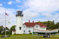 Chatham lighthouse the in cape cod massachusetts Royalty Free Stock Photos