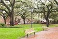 Chatham Square Historic District Savannah GA US Royalty Free Stock Photo