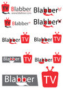 Chating tv logo or television for website or your video channel Stock Images