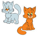 Chatons (clip-art de vecteur) Photographie stock libre de droits