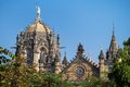 Chatrapati shivaji terminus earlier known as victoria in mumbai india Stock Image