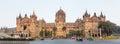 Chatrapati shivaji terminus earlier known as victoria terminus in mumbai india panorama Stock Image
