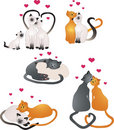 Chats d'amour Photo libre de droits