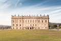 Chatsworth House Front View took from the Garden Royalty Free Stock Photo