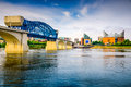 Chattanooga tennessee usa downtown city skyline Royalty Free Stock Photos