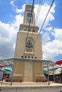 Chatuchak clock tower bangkok thailand july unidentified visitors at in weekend market open from am pm here is the largest weekend Stock Photo