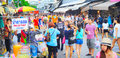 Chatuchak weekend market bangkok thailand march people shopping in in bangkok thailand it is the largest in thailand Royalty Free Stock Image
