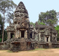 Chau say tevoda architectural detail at a khmer temple in cambodia Stock Photos