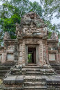 Chau say thevoda an entrance into a small shrine at angkor cambodia Royalty Free Stock Images