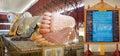 Chaukhtatgyi Bubbha Temple, Yangon, Myanmar Royalty Free Stock Photo