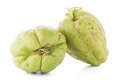 Chayote also known as chow chow and chu chu isolated on white Stock Photo