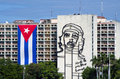 Che Guevara and cuban flag Royalty Free Stock Photo