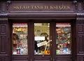 Cheap Books Store in Cracow Royalty Free Stock Photo