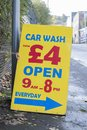 Cheap Car Wash By Hand Open All Day Sign Royalty Free Stock Photo