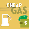 Cheap gas Royalty Free Stock Photo