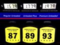 Cheap gas prices Royalty Free Stock Photo