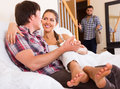 Cheating spouse coming home in wrong moment