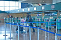 Check in area in the airport people milan malpensa italy Stock Images