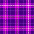 Check diamond tartan plaid scotch fabric seamless texture background - dark purple, hot pink, violet, magenta and white co