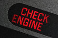 Check engine warning light Royalty Free Stock Photo