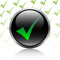 Check mark button Stock Photography