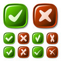 Check mark buttons collection Royalty Free Stock Photo