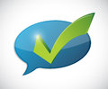 check mark message of approval Royalty Free Stock Photo
