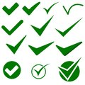 Check Mark Object Icons Stock Photography