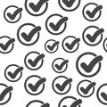 Check mark seamless pattern background icon.