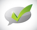 check mark white message of approval Royalty Free Stock Photo