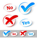 Check mark Yes and No Royalty Free Stock Photo