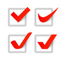 Check marks set of on white Stock Images