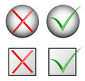 Check marks :yes and no Royalty Free Stock Photo