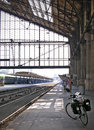 Check out the bike tour one shot was taken in france waiting for arrival of train to tours is station take on a symbolic journey Royalty Free Stock Photography