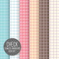 Check seamless pattern geometrical vector background pastel li light set can be used for wallpaper fills web Stock Photography