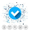 Check sign icon. Yes button. Royalty Free Stock Photo