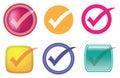 Check or Tick Symbol Vector Icon Set Royalty Free Stock Photo