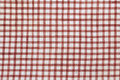 Checked cotton fabric Stock Image